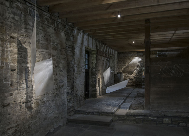 Byre, Latheron House: Tracing Light (installation overview)